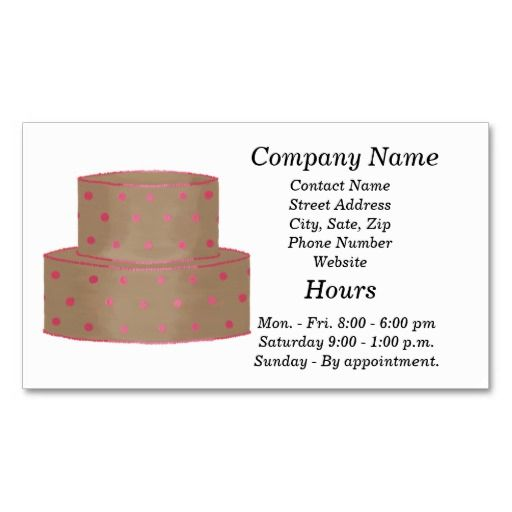Cake decorator business cards template businesscards cakeartist cake decorator business cards template cheaphphosting Images