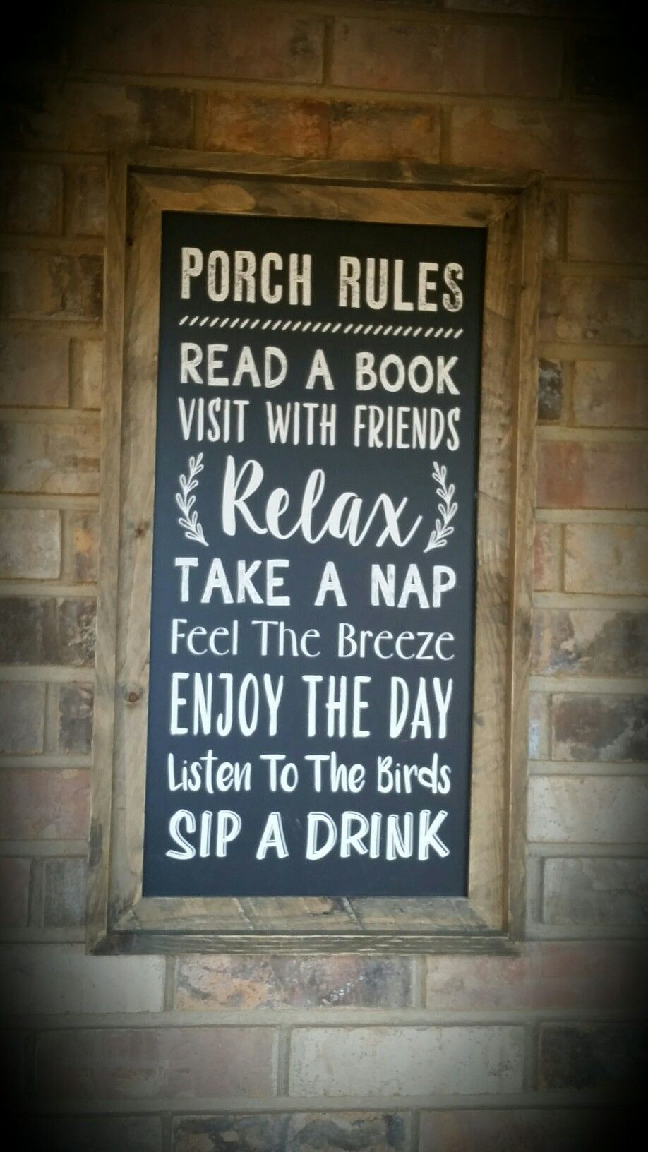 Porch Rules Decorating Ideas Porch Front Porch Porch Signs
