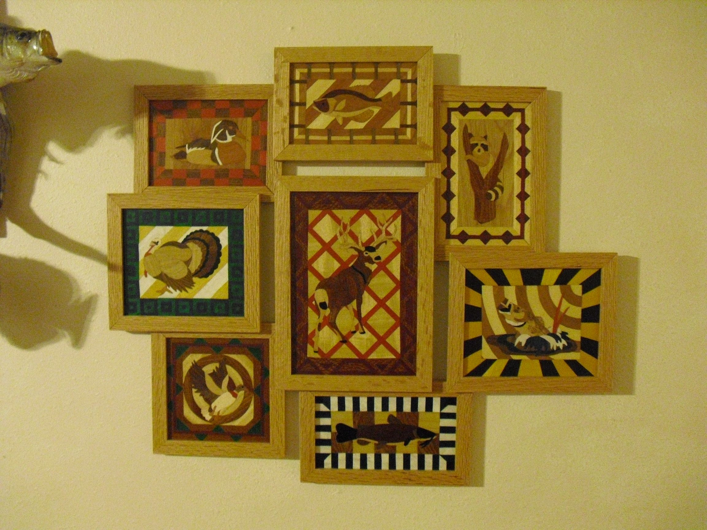 Intarsia collage