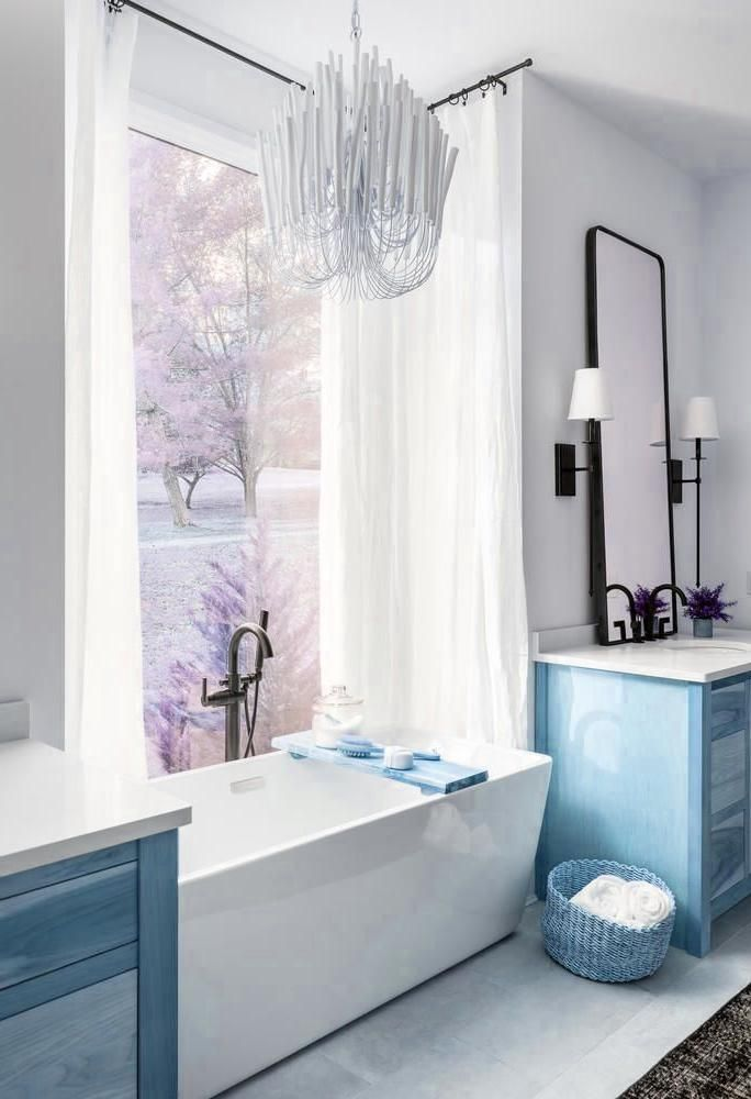 Indian Home Decor Beautiful modern bathroom design with free standing tub and light wood vanity cabinets P O R T F O L I O - M I L L W O R K S.Indian Home Decor  Beautiful modern bathroom design with free standing tub and light wood vanity cabinets P O R T F O L I O - M I L L W O R K S