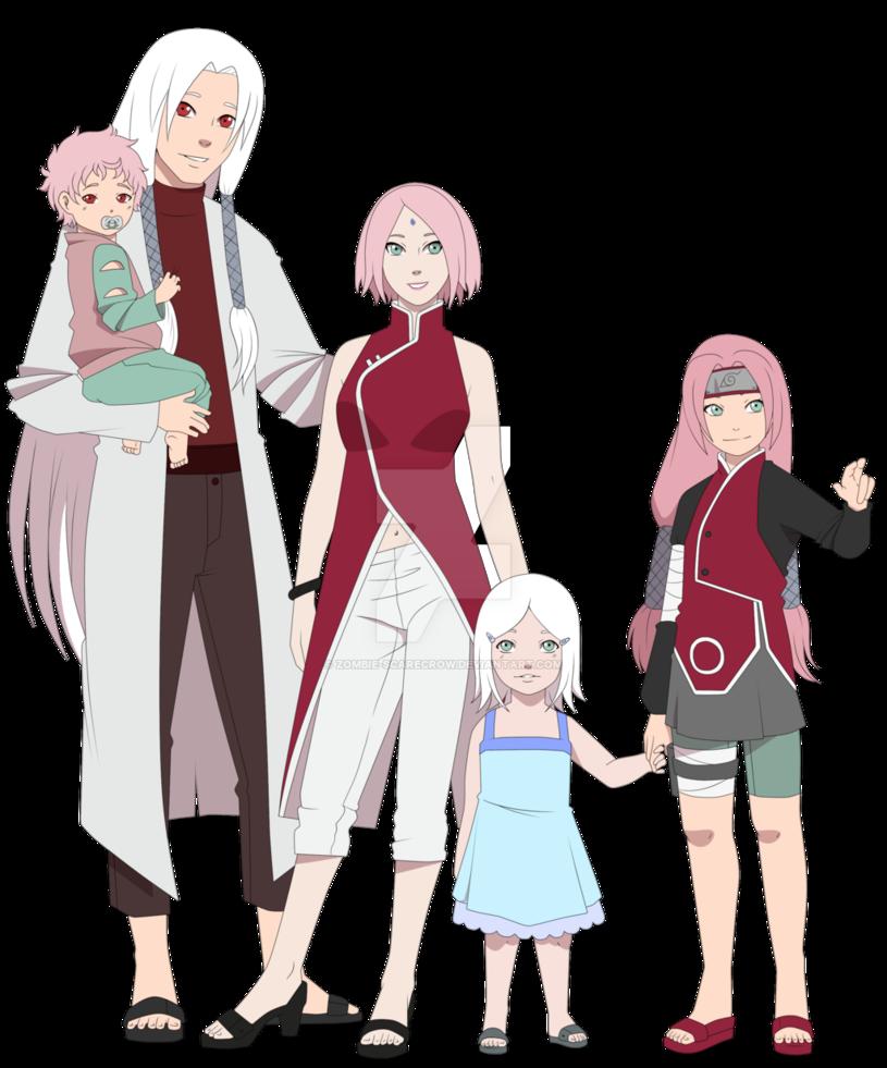 The Haruno / Funseki Family. By One-legged-zombie