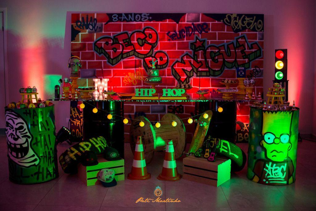 Aniversarios Miguel Aniversario De 8 Anos Hip Hop Sao Jose