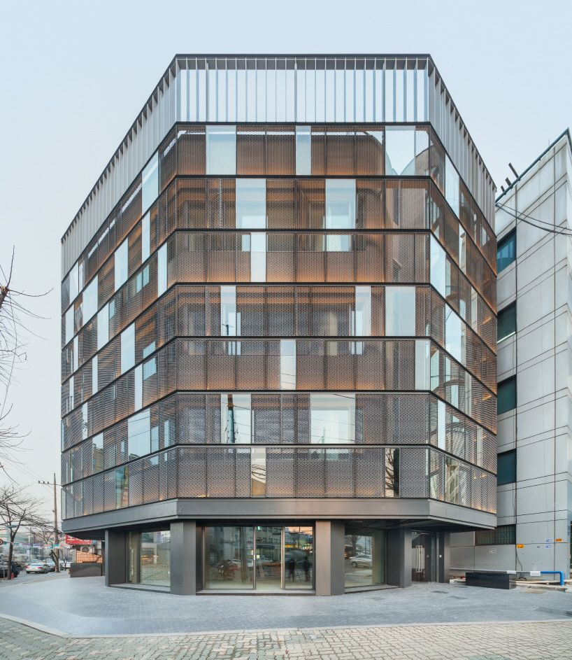 office facades dia architecture remodels dogok office with transparent steel faade facades r facades f50 office