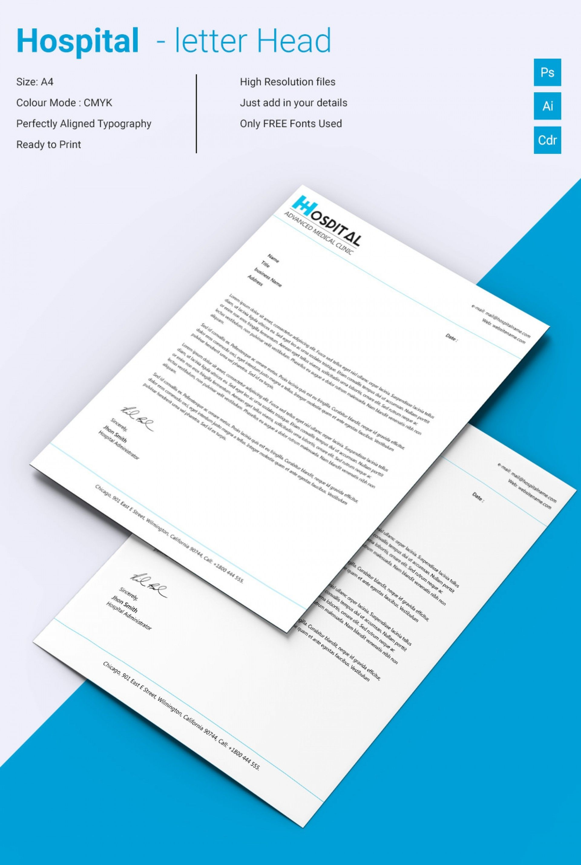 Download Unique Hospital Letterhead Sample Free Download At Http