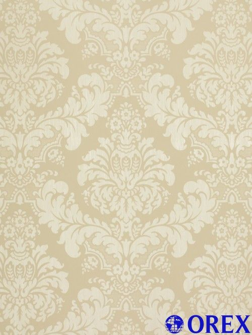 Country Charm Tapete Rasch Textil Satintapete Landhaus 298122 Barock Beige  Creme Tapeten Rasch Textil Country Charm