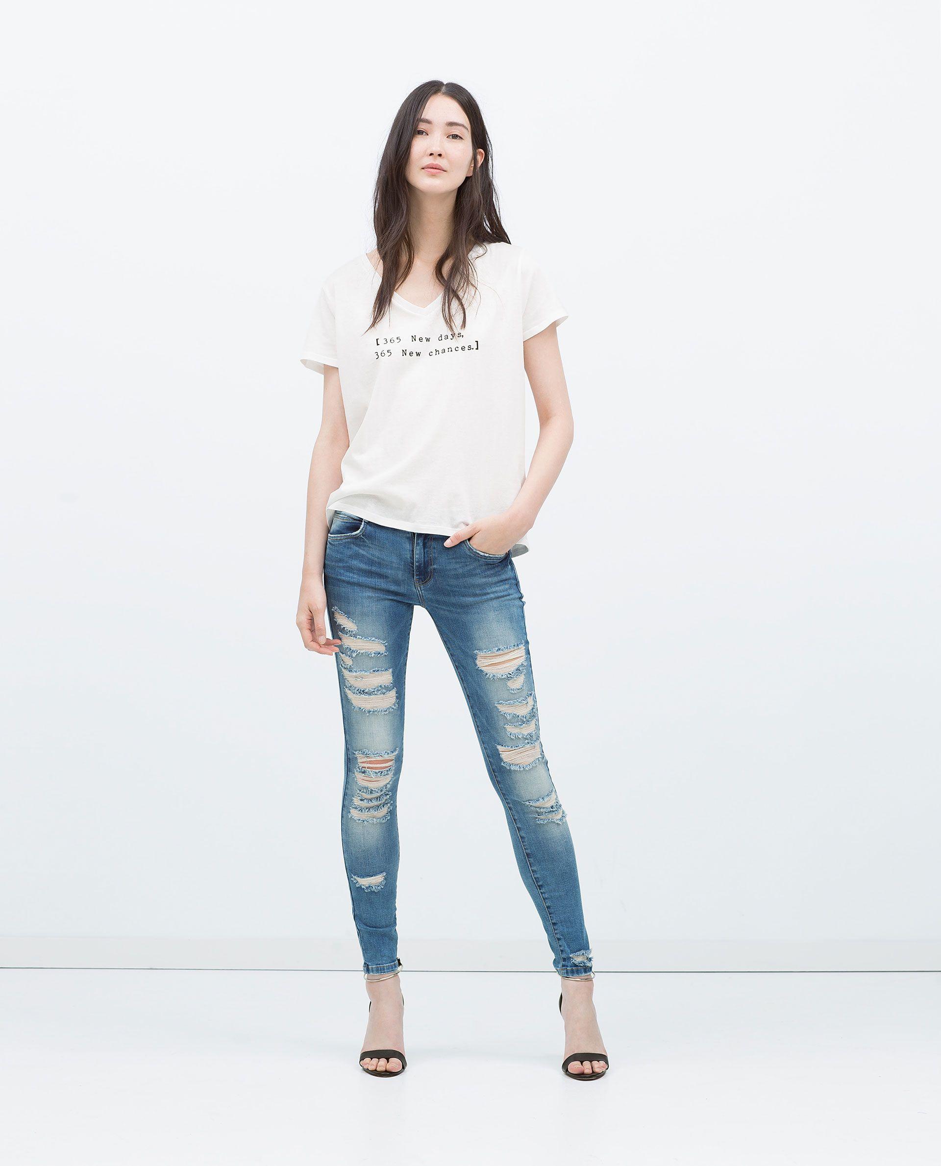 802bad74ae ZARA - MUJER - PANTALÓN ROTOS Zara Mujer Pantalones