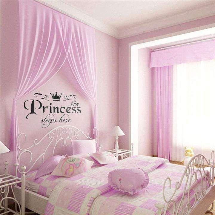 "Meghan ""The Princess Sleeps Here"" Wall Sticker Room Decor"