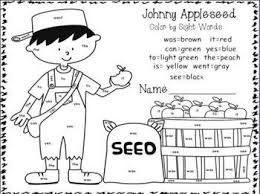Image result for johnny appleseed worksheets for