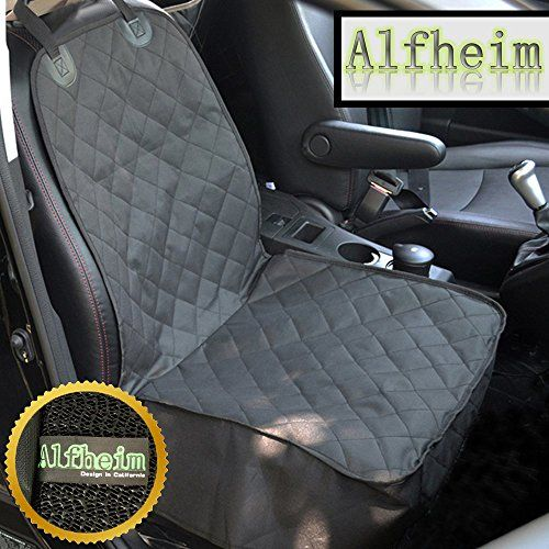 Alfheim Dog Car Seat Cover Nonslip Rubber Backing With Anchors Universal Design For All Cars Trucks And SUVs Black You Can Get Additional Details At
