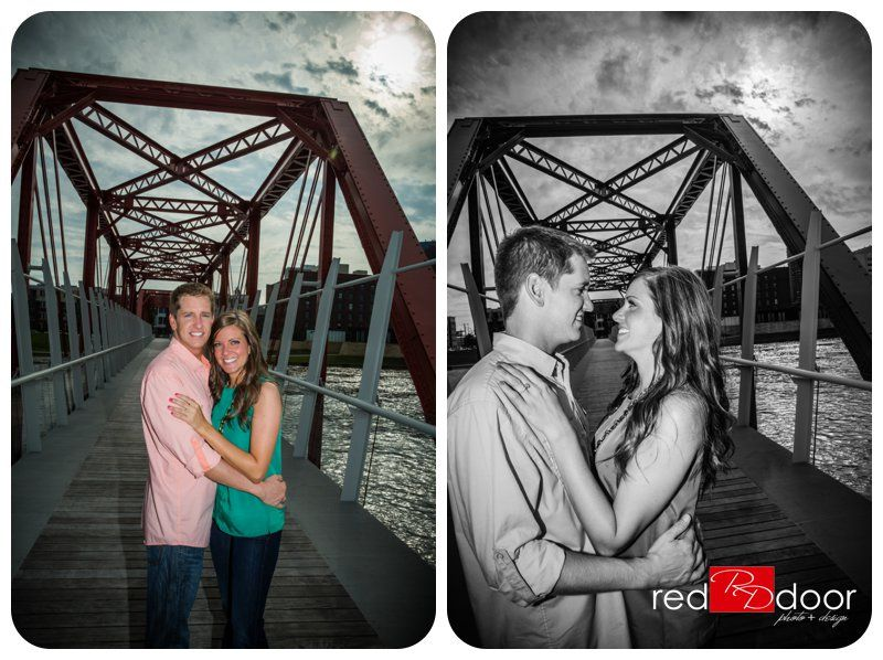 Amber Michael Engagement Photography Downtown Des Moines