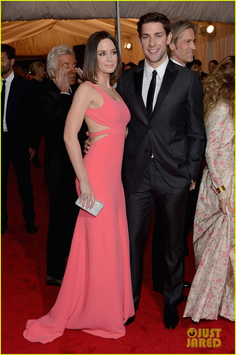 Emily Blunt and hubby John Krasinski are fashion forward at the 2012 Met Ball held at the Metropolitan Museum of Art on Monday (May 7) in New York City.
