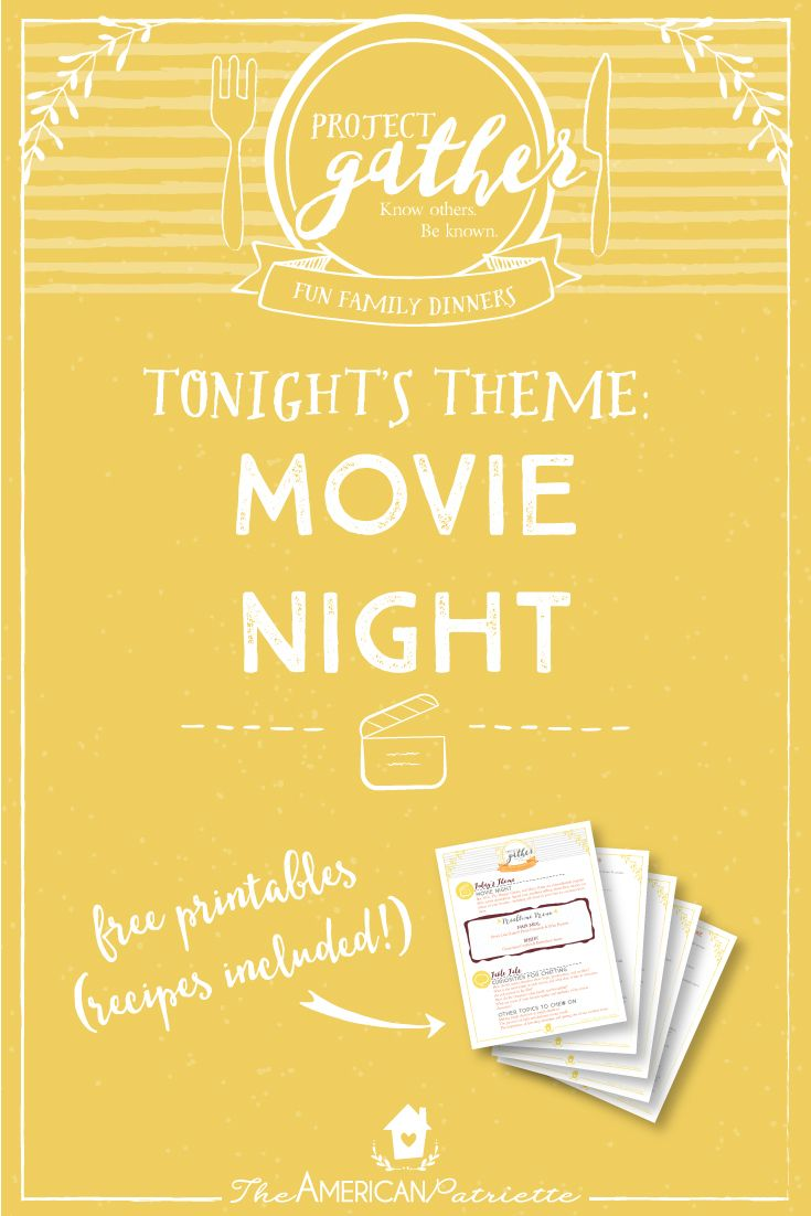 Fun Family Dinner: Movie Night. We all need some help and encouragement when it…
