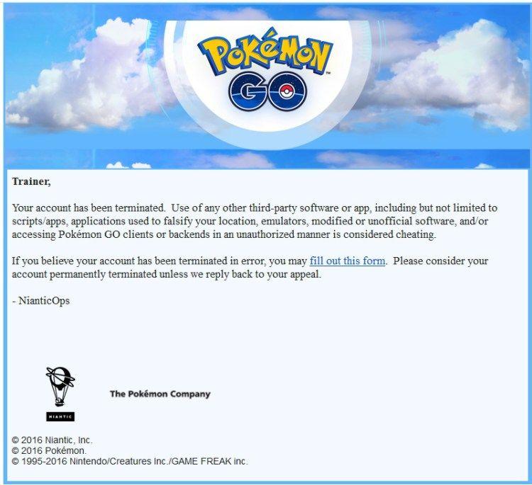 baneos en pokemon go