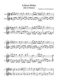A Hymn Medley for Flute Duet Digital Sheet Music by Traditional   Sheet Music Plus