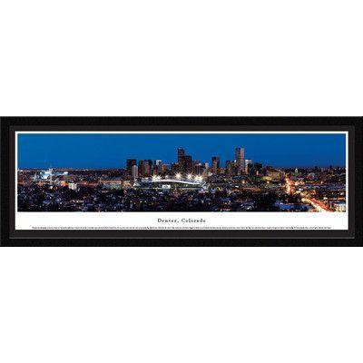 BlakewayPanoramas US Skyline Denver, Colorado by Christopher Gjevre Framed Photographic Print