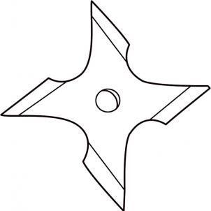 How To Draw A Ninja Star Step 4