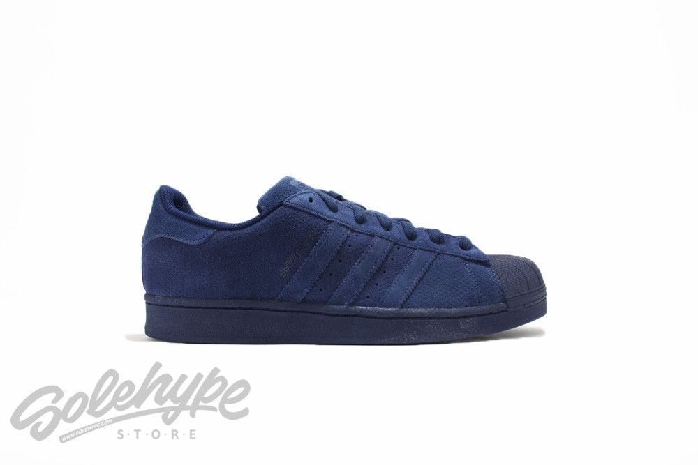 purchase cheap 216d1 1679d ... in a monochromatic tone that features a full body perforation. ADIDAS  SUPERSTAR SKU  S79476 NIGHT INDIGO Suede leather uppers with micro perfo