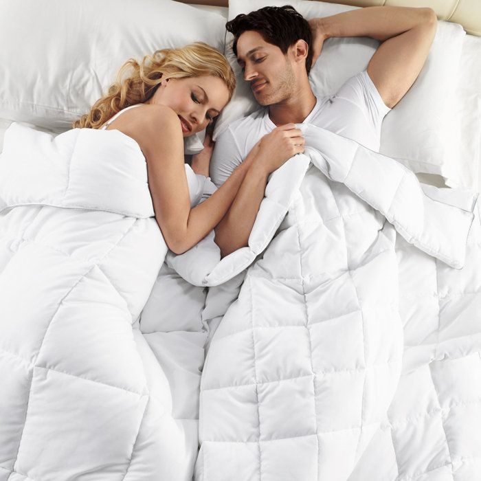 Dual Zone Better Than Down Comforter At Brookstone Buy Now