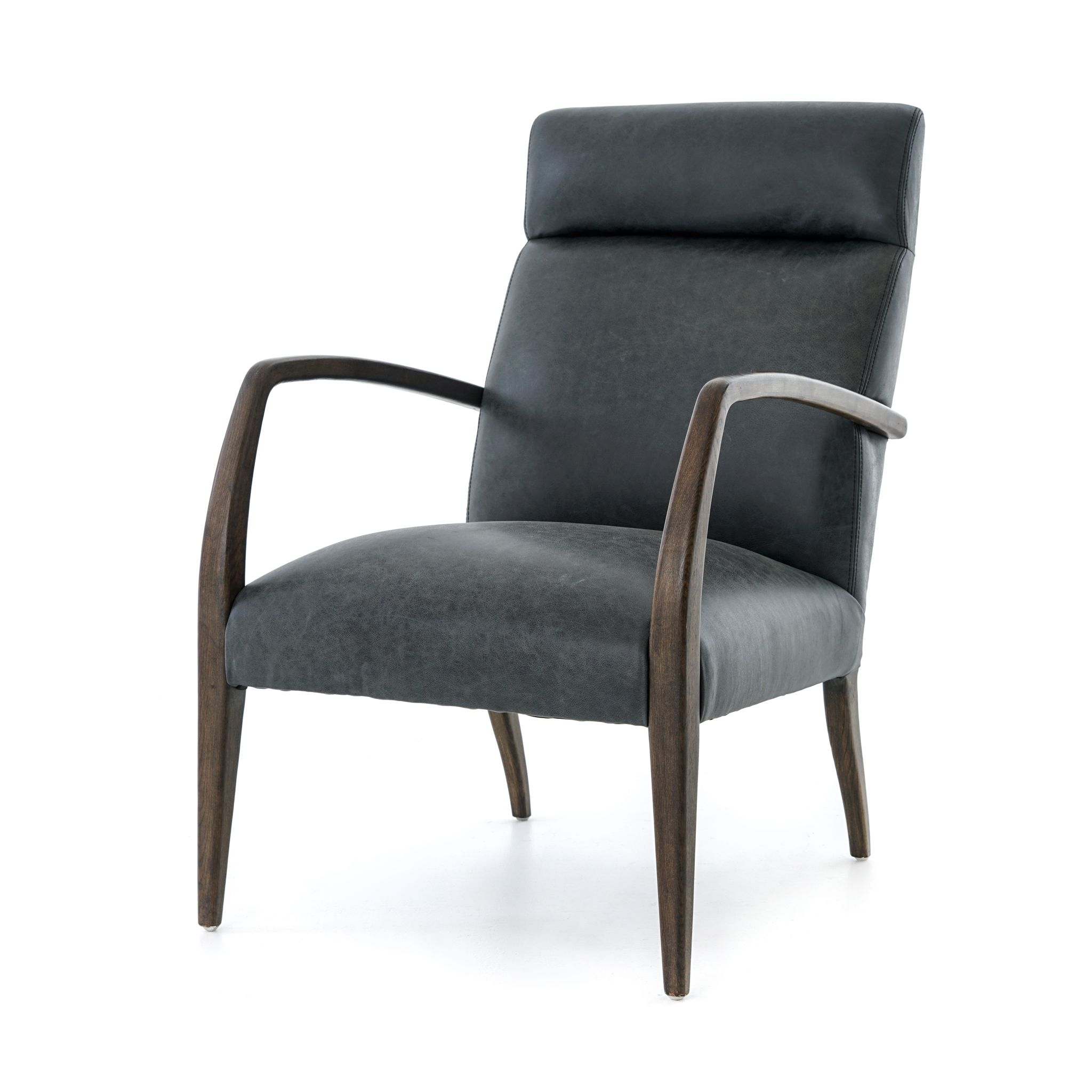 Major Lee Leather Chair Upholstered accent chairs