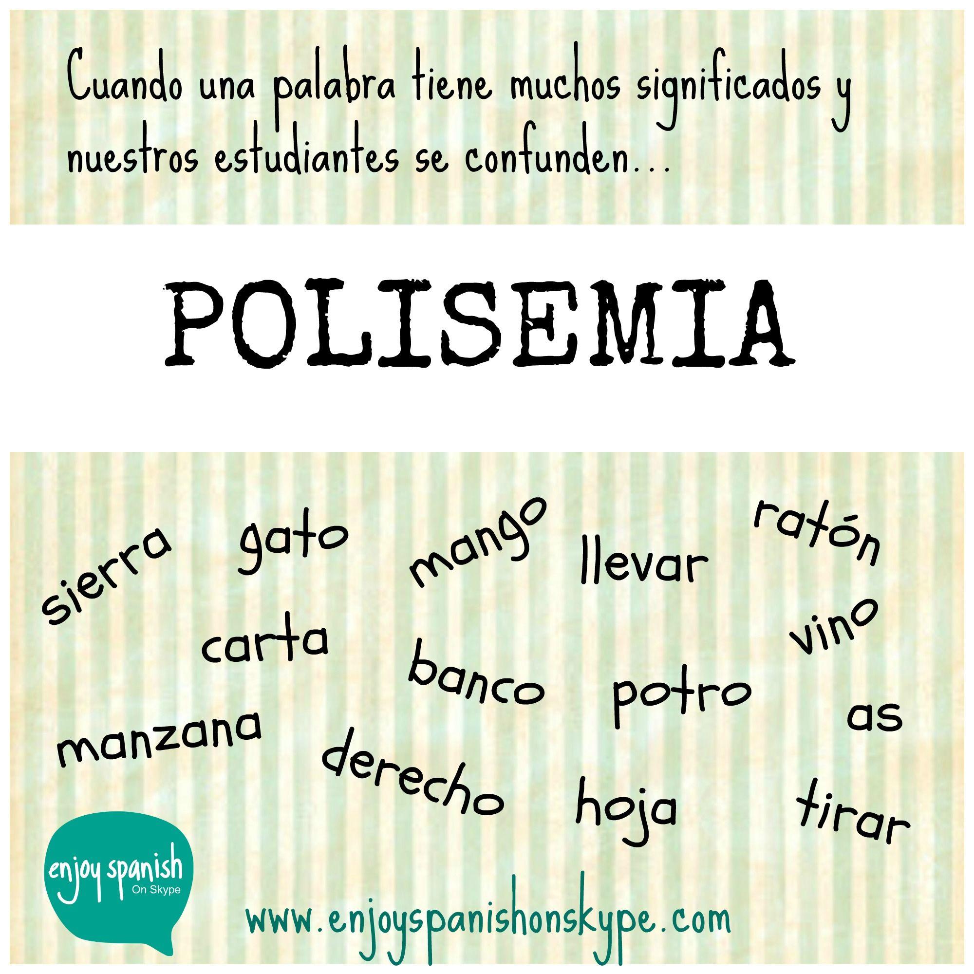 Palabras Polisemicas Palabras Polisemicas Vocabulario Espanol Aprender Espanol