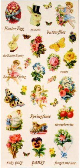 DCWV Easter & Spring Vellum Stickers