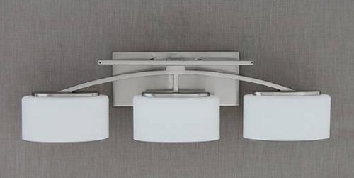"Santa Monica Collection 3-Light 25.5"" Polished Chrome Bath"
