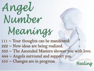 Angel Numbers: 111 to 555   Ellen M. Gregg, Intuitive   angels, angel numbers, 111, 222, 333, 444, 555, spirit numbers