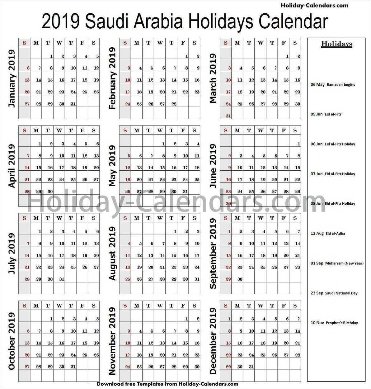 Pin By Holiday Calendars On Holidays Calendar 2019 School Holidays Holiday Calendar Happy Islamic New Year