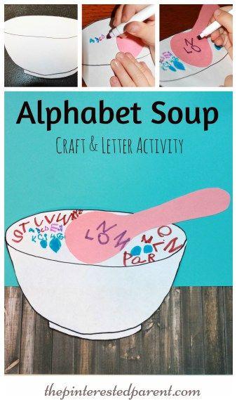alphabet soup abc themes for kids letter a crafts alphabet soup preschool art activities. Black Bedroom Furniture Sets. Home Design Ideas