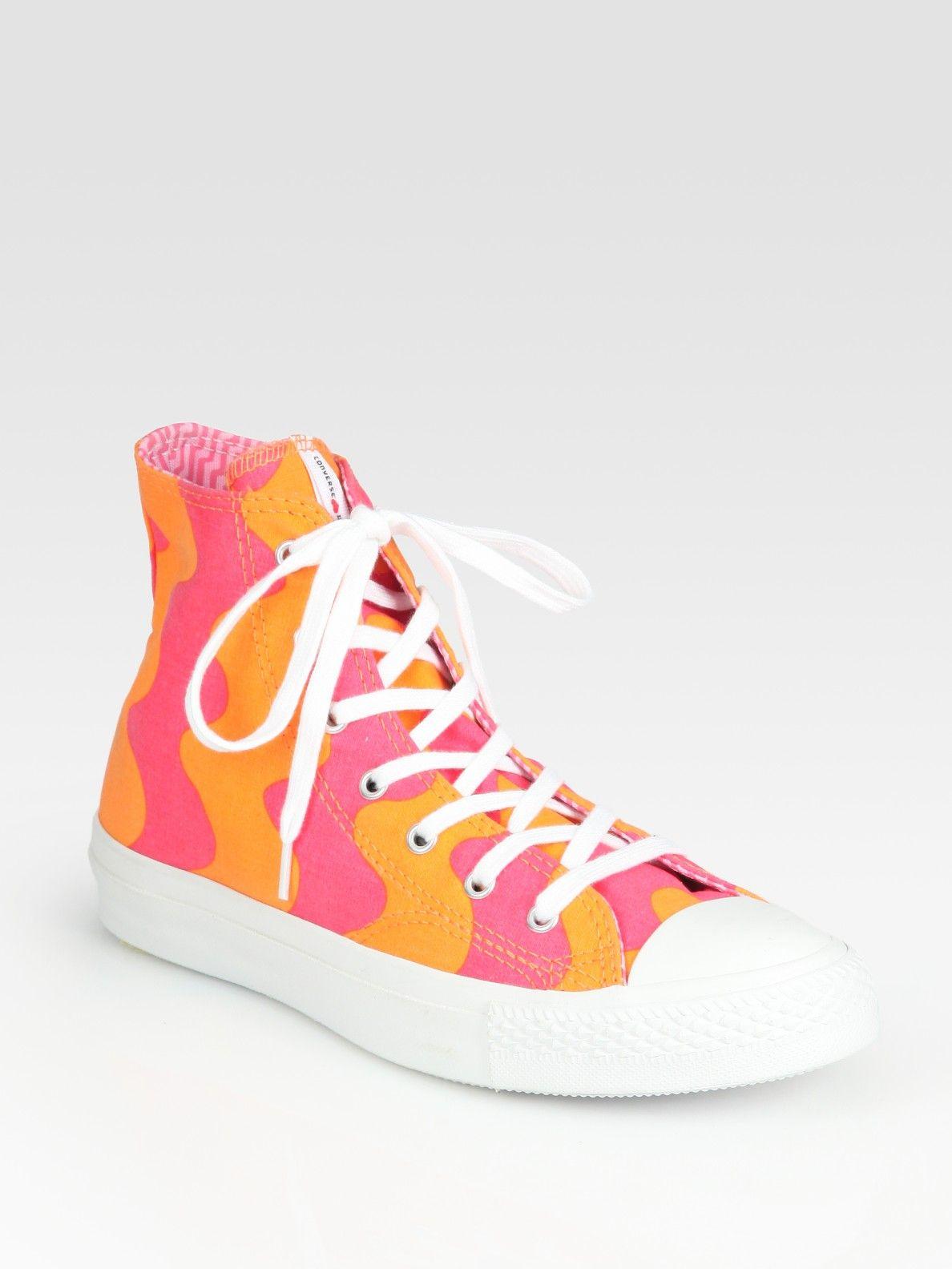 22547c2becbf Converse Chuck Taylor All Star High Top Marimekko Sneakers in Orange (pink)