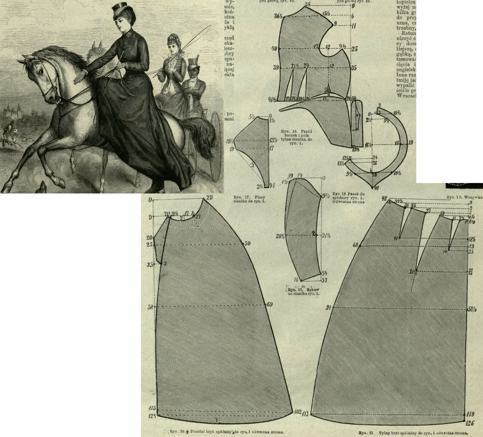 Mody Paryzkie 1879.: Riding habit. | Aside | Pinterest | Schneiderei ...