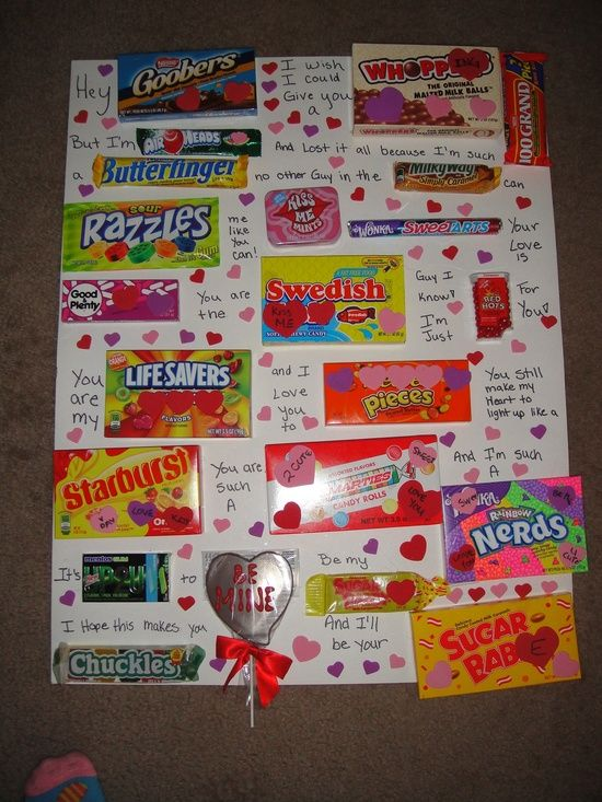 Valentine Candy Card Holidays Pinterest Valentines Candy