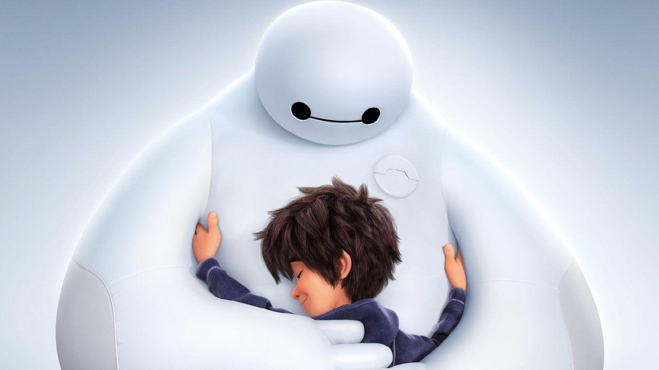 Baymax And Hiro Big Hug 1280x720 Wallpaper Baymax Film Animasi Kartun