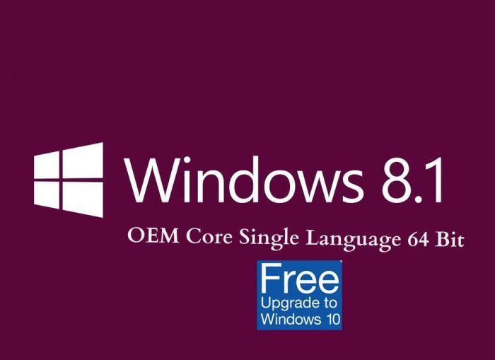Ms Windows 8 1 Home Single Language 64 Bit Oem Upgrade To Windows 10 Windows 8 Windows