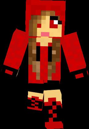 Minecraft Skins Girl Hoodie Cute In Red Clipart Free Clip Art Images Minecraft Skins Girl Hoodie Free Clip Art Art Images