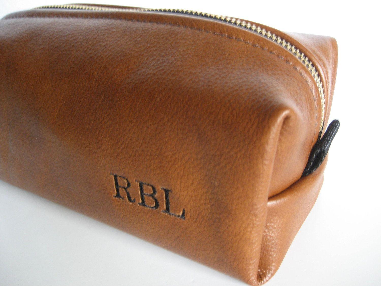 68115b15366 Personalized Whiskey Leather HANDMADE Dopp Shaving Kit Toiletry Case Gift  for Man.  60.00, via Etsy.