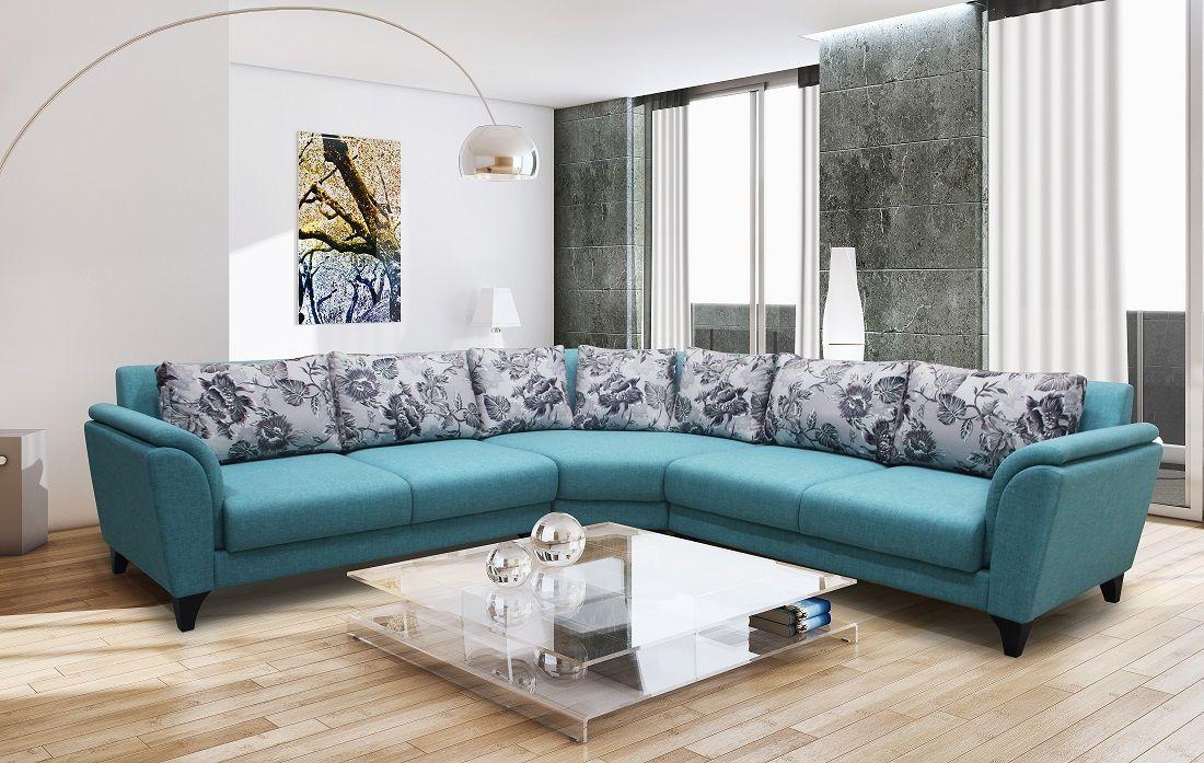 Dynamic Modern L Fabric Shape Sofa Sofa Sofa Furniture Fabric Sofa