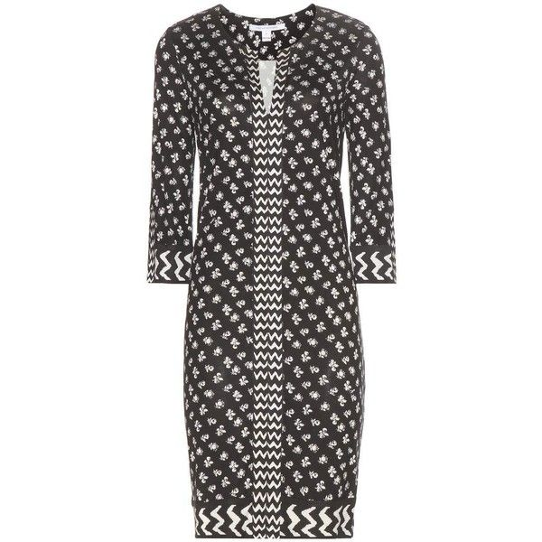 Diane Von Furstenberg Rose Printed Silk Jersey Dress ($320) ❤ liked on Polyvore featuring dresses, diane von furstenberg, silk jersey, silk jersey dress, diane von furstenberg dress and rosette dress