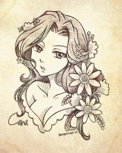 Mavis Vermillion Tumblr Cana Manga Girl Desenho