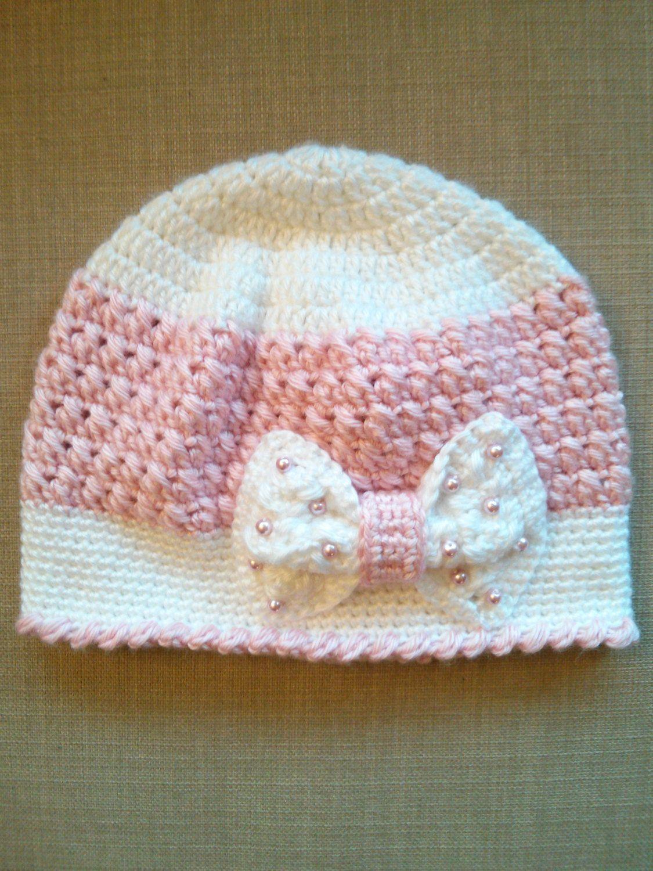 Handmade Crochet Hats for girls, Beanie Hats, Girls Crochet Hats by ...