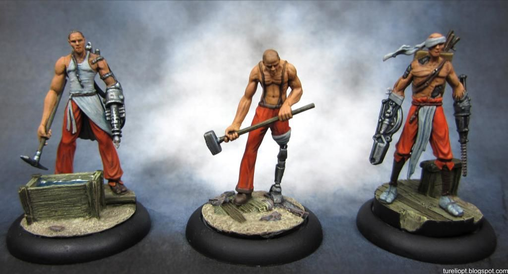 Malifaux Rail Crew by Turelio. More images at http://tureliopt.blogspot.com.au/2014/01/things-get-painted-malifaux-rail-crew.html