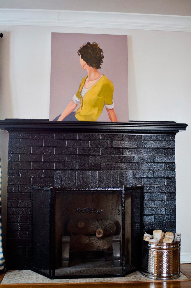 Painting Interior Brick Fireplace: Exterior Paint Colors With Red Brick Trim Painted Brick