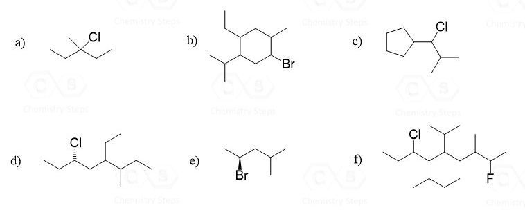 Give a systematic name for each of the following compounds