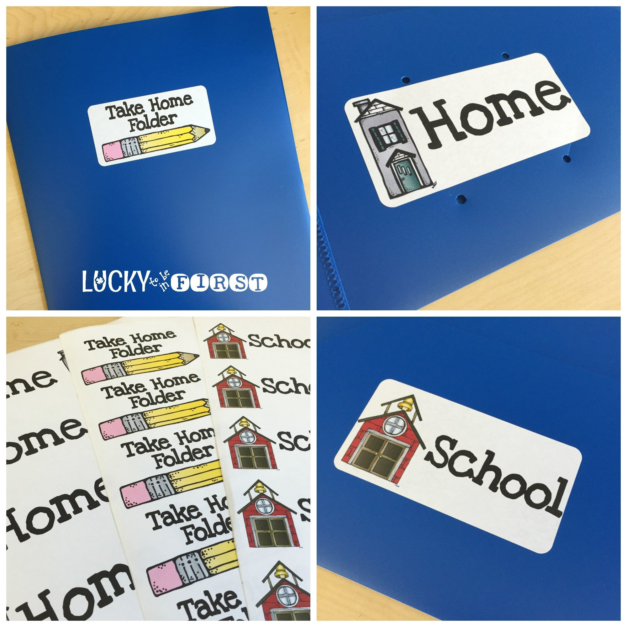 Take Home Folders Lucky To Be In First Things To Do In Summer To Get Ready Design Ideas