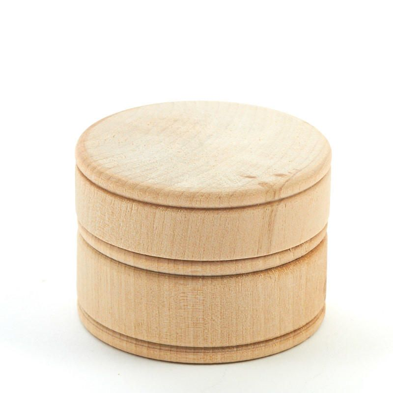 Unfinished Wooden Powder Box Crates Boxes Wood Crafts Hobby