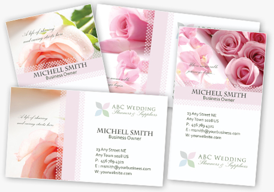 Weddingbusinesscards Template Photoshop PSD Kartu Nama Unik - Wedding business card template