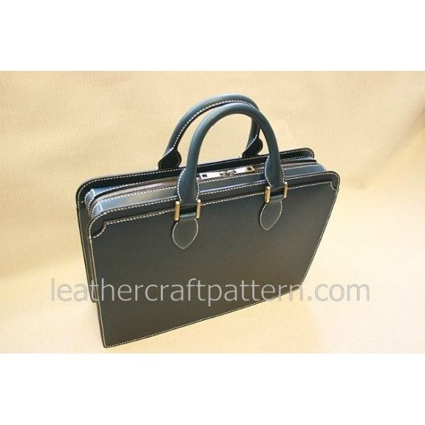 Leather bag patterns briefcase patterns portfolio bag patterns messenger bag patterns PDF instant download leathercraft pattern ACC-44