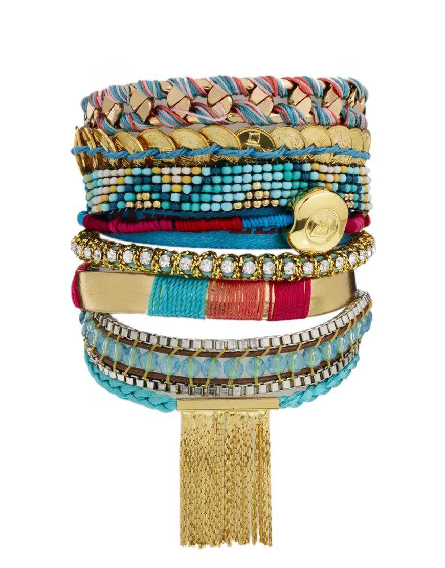 on sale 04412 2f3df Hipanema Byzance Bracelet | Silk thread jewellery | Beaded ...