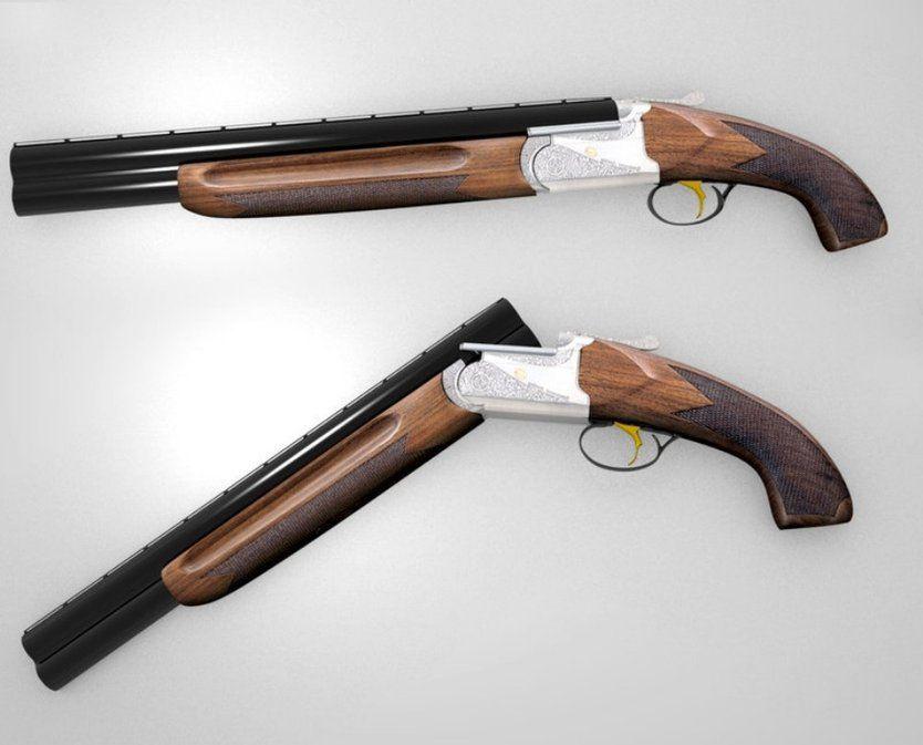 Double barrel Shotgun pistol grip awesomeness | Weapons Guns knives