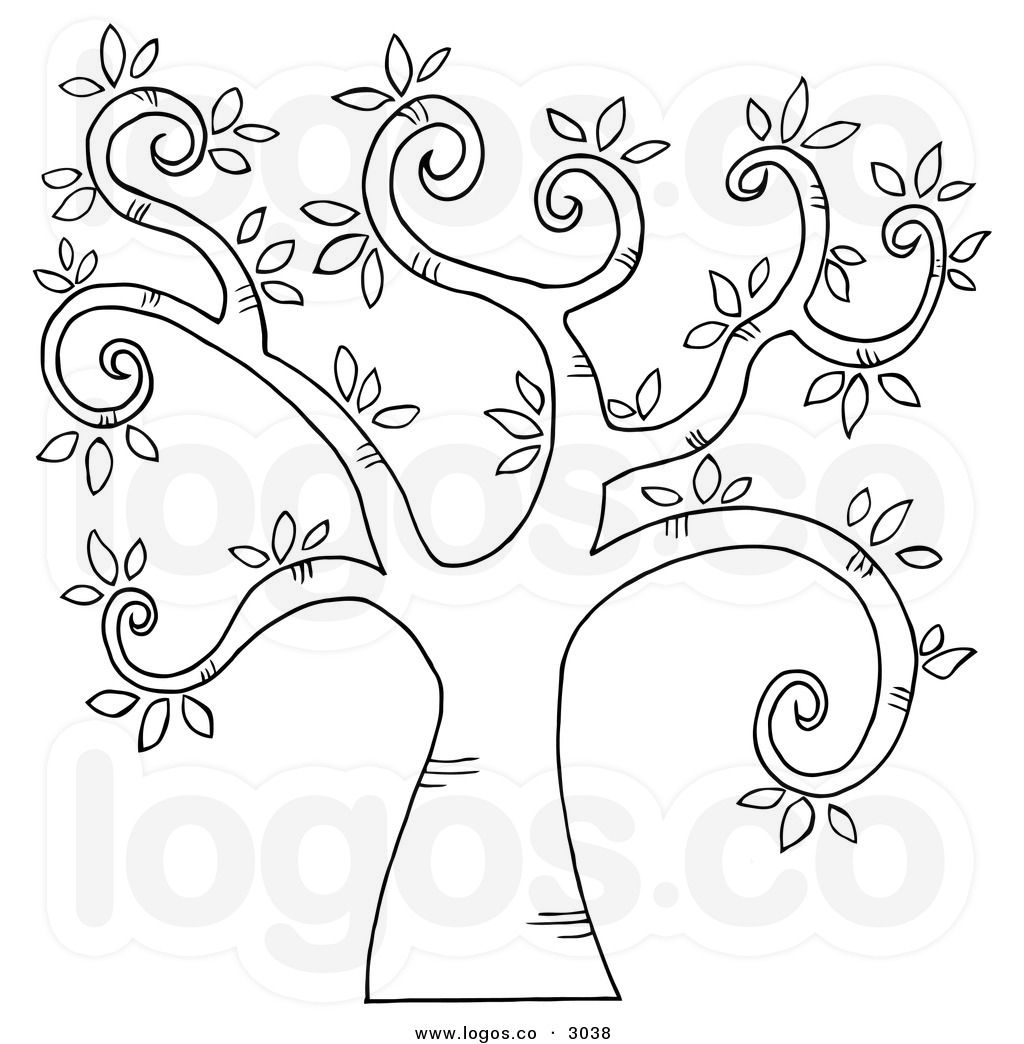 Royalty Free Stock Logo Designs Of Outlines Clip Art Tree Doodle Rock Painting Patterns